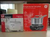 Chefmate 1.5 Quart Slow Cooker and GE Single Burner Hot Plate