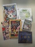 1965 Memorabilia - Trivia Playing Cards, Coin Set, CD, DVD, and Book