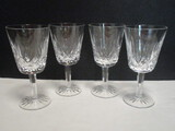 Four Waterford Crystal Lismore Wine Glasses