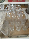 26 Pieces Imperial Glass Twist Clear Glassware