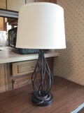 Metal Framework Table Lamp with Shade