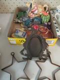 Lefton Road Runner, Treasure Craft Cactus, Otagiri Teapot with Creamer and Sugar Bowl, Metal Stars,