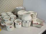 36 Pieces Hartstone Dinnerware, Pitcher, and Platter
