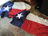 Two Texas State Flags - 3x5 Nylon and 4x6 Cotton