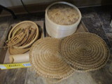 Bamboo Steamer, Woven Chair Pads, Tea Strainer Spoons, Basket, Bamboo Tray