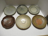 Six Japanese Pottery Plates