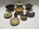 Japanese Pottery Rice Bowls and Pickle Plates