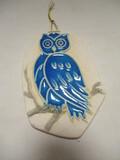 Retsis Pottery Owl Wall Plaque