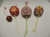 Four Japanese Star Festival Ornaments