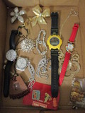 Watches, Rhinestone Jewelry, Brooches, Pins, Necklace