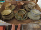 Six Japanese Pottery Cups and Saucers