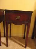 Mahogany One Drawer Table