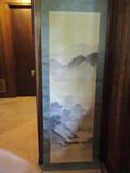 Pre-WWII Japanese Scroll Artwork - Mountain Scene