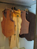 Men's Leather Vest and Chaps, Suede Vest and Blazer