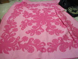 Pink Quilt with Hand Stitching