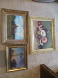 Three Framed Original Paintings on Board Signed Bowman