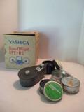 Yashica 8mm Editor, Akai Splicer, Watson Model 100 Bulk Film Loader, Film Canisters