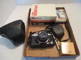 Pentax Asahi K1000 Camera with Box, DeJUR Light Meter, Vivitar Close Up Lens Set