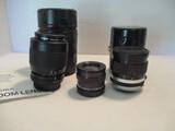 Sigma 70-210mm Camera Lens, Tamron 28mm Lens, Buhl 31-45mm Lens