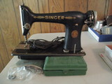 Antique Singer Sewing Machine with Buttonholer