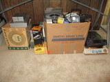 Large Lot of Slide Projectors, Slide Trays, Viewers and Accessories