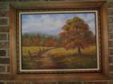 Framed Landscape Painting on Canvas