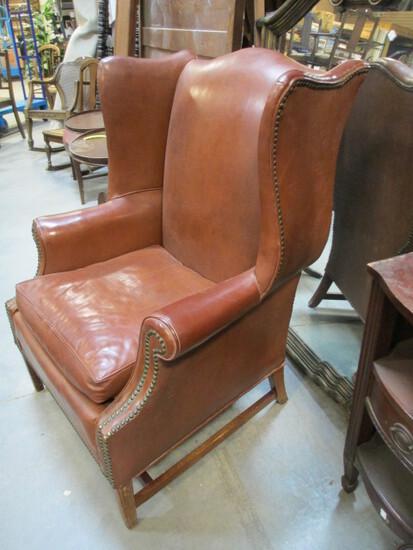 Vintage Custom Wing Chair By Mecklenburg Furniture, Charlotte, NC