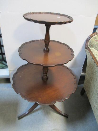 Three Tiered Piecrust Table