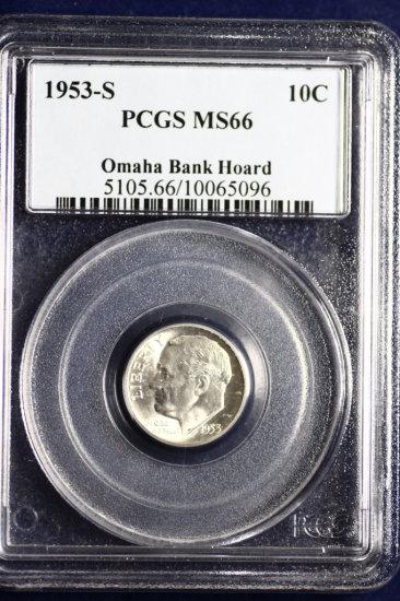 Omaha Bank Hoard uncirculated silver dime