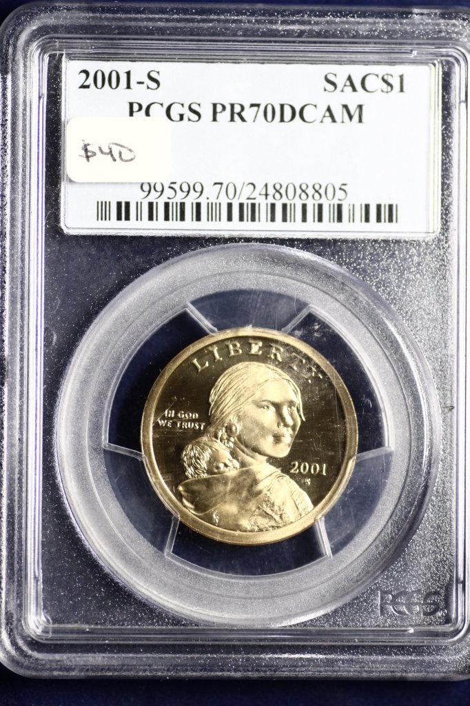 2001-S certified gem proof deep cameo dollar