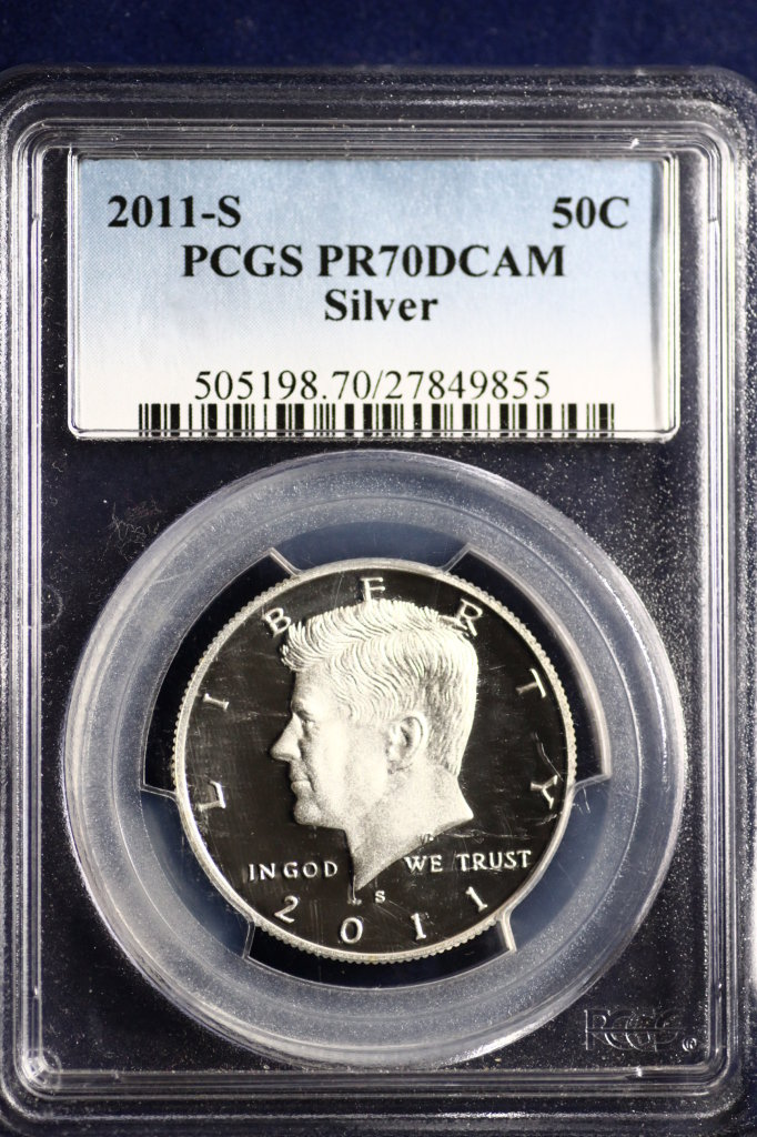 2011-S Kennedy Half Dollar deep cameo silver