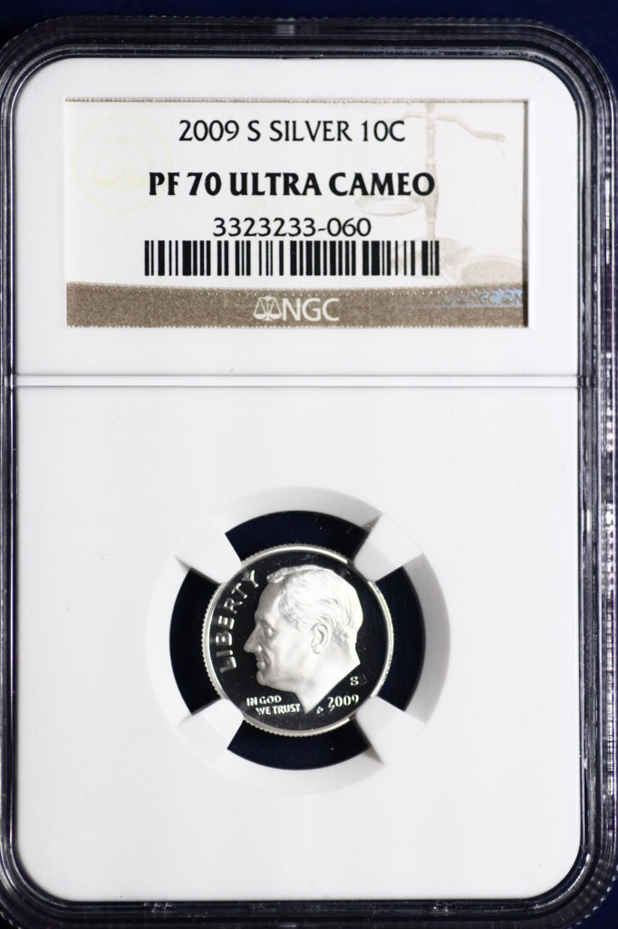 2009 S certified ultra cameo silver dime