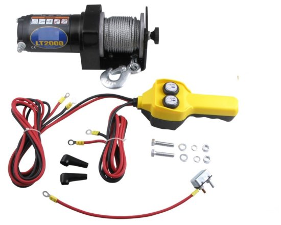 Unused 2,000# 12V ATV Electric Winch