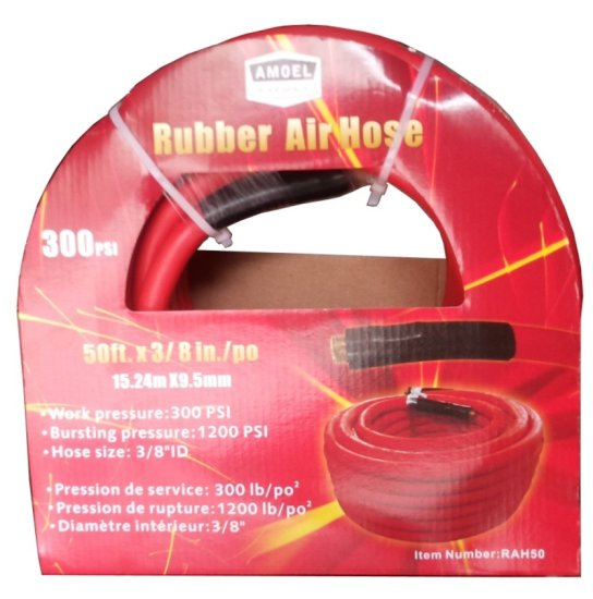 "Unused 3/8"" x 50' Rubber Air Hose"