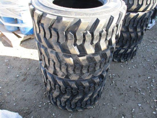 (4) Unused 12 Ply 12 x 16.5 Skid Steer Tires,