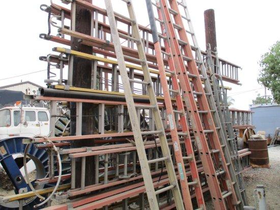 Lot Of Aluminum & Fiberglass Ladders