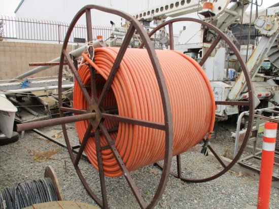Large Metal Spool & Plastic Cable Cover Tube