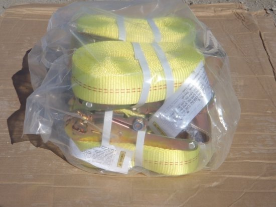 (4) Unused 10,000# Ratchet Cargo Straps