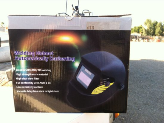 Unused Auto Darkening Welding Helmet
