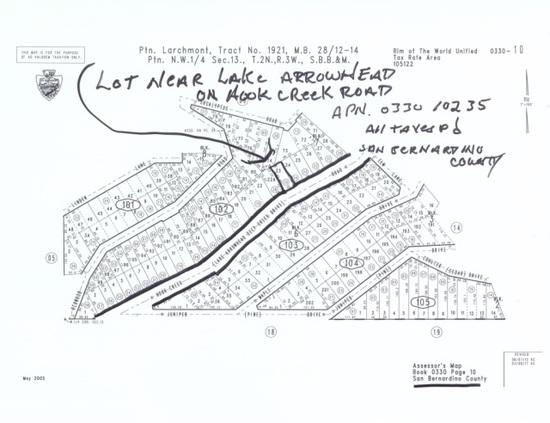 Lot Near Lake Arrowhead California, | Real Estate Land
