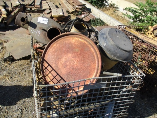 Lot Of Misc Engine Parts & Exhaust Pipe