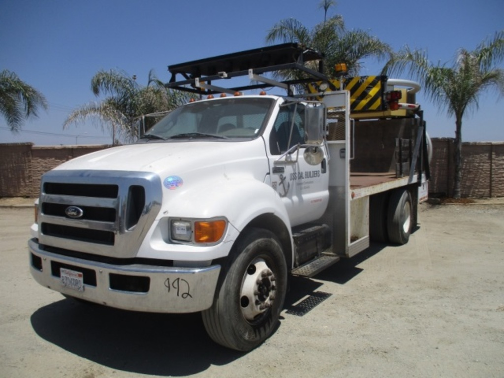 2012 Ford F650 Xl S A Flatbed Attenuator Truck Commercial Trucks Hauling Transport Trucks Flatbed Trucks Auctions Online Proxibid