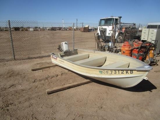 12' North Port Mirro Craft Aluminum Fishing Boat,