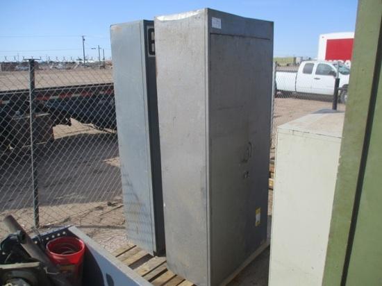 (2) 7' Tall Metal Cabinets