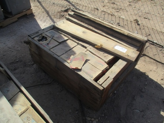 """Wooden Box W/(18) Boxes Of 3"""" Nails"""