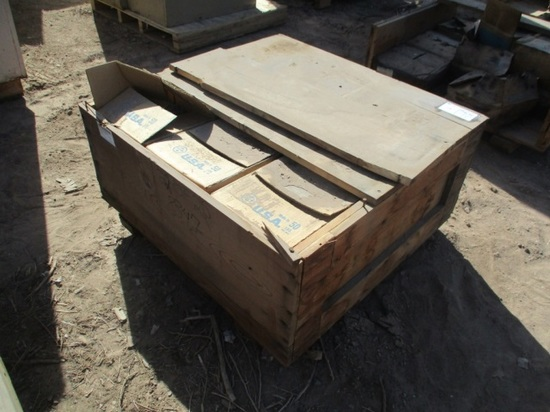 "Wooden Box W/(18) Boxes Of 3"" Nails"