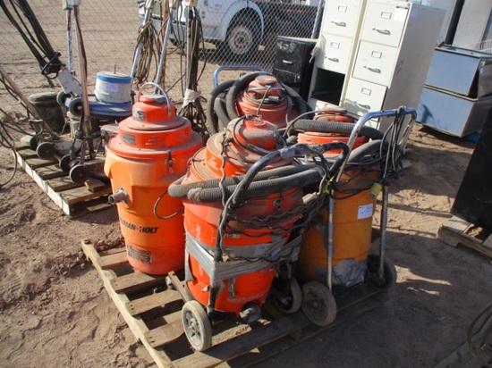 (4) Industrial Pullman Holt Vacuums