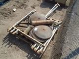Pallet Of Misc Steel Disc Rollers,