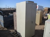 (2) 6' Tall Metal Cabinets,
