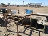 2-Piece Steel Workbench, Steel Table Base W/Wheels